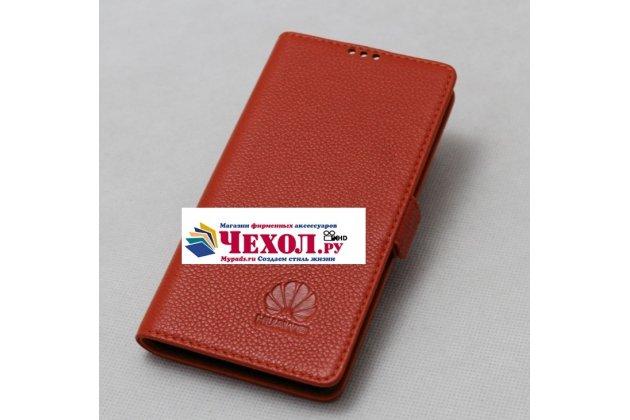 Фирменный оригинальный подлинный чехол с логотипом для Huawei Nova 2S (HWI-AL00) из натуральной кожи красный