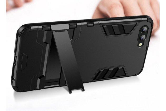 Противоударный усиленный ударопрочный фирменный чехол-бампер-пенал для Huawei Nova 2S (HWI-AL00) серебристый