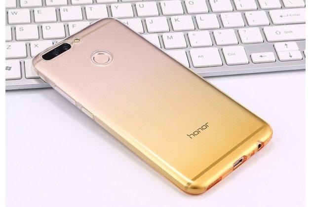 Фирменная ультра-тонкая полимерная задняя панель-чехол-накладка из силикона для Huawei Honor 9 Lite (LLD-AL00) прозрачная с эффектом песка