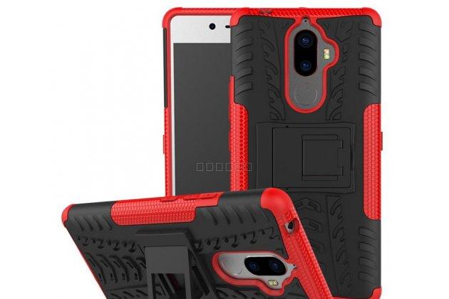 Противоударный усиленный ударопрочный фирменный чехол-бампер-пенал для Lenovo K8 5.2 красный