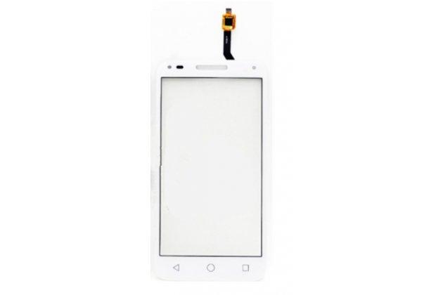 Фирменное сенсорное-стекло-тачскрин на Alcatel U5 3G 4047D / Alcatel U5 3G 4047X белый + инструменты для вскрытия + гарантия