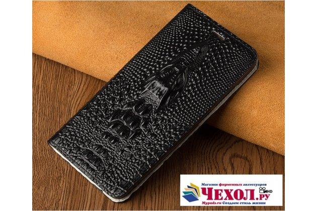 Фирменный роскошный эксклюзивный чехол с объёмным 3D изображением кожи крокодила черный для HTC U11 EYEs  Только в нашем магазине. Количество ограничено