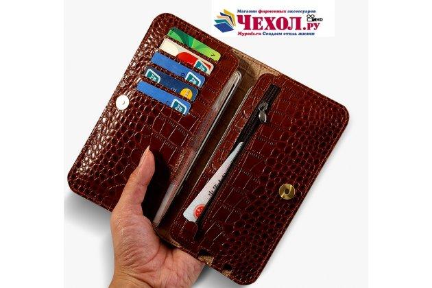 Фирменный чехол-портмоне-клатч-кошелек из качественной импортной кожи для HTC U11 EYEs красный