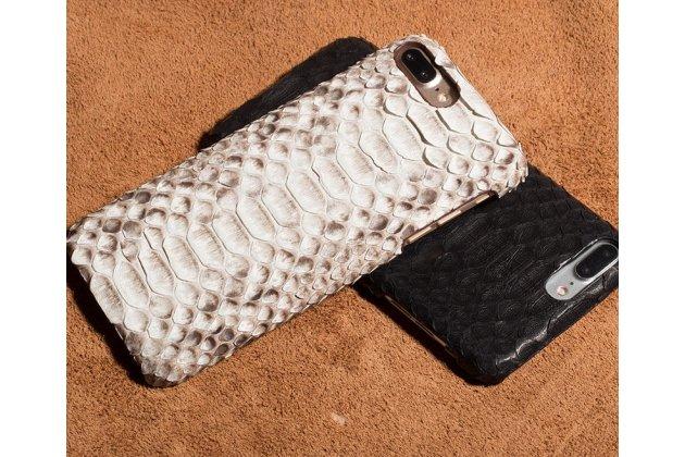 Фирменная элегантная экзотическая задняя панель-крышка с фактурной отделкой натуральной кожи змеи для HTC U11 EYEs белая. Только в нашем магазине. Количество ограничено.