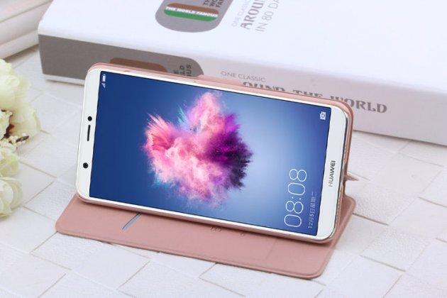 Фирменный чехол-книжка водоотталкивающий с мульти-подставкой для Huawei P Smart 5.65 (FIG-LX1 /AL00) / Huawei Enjoy 7S черный