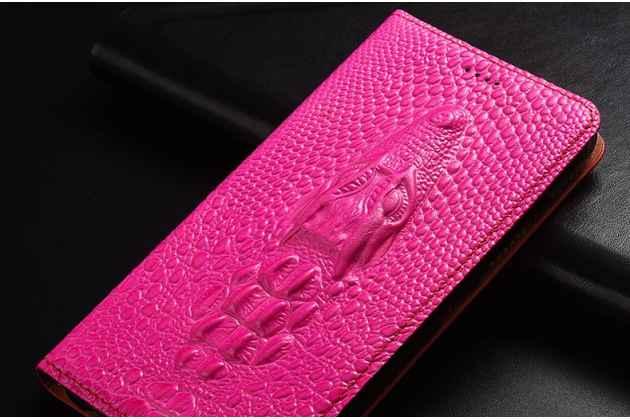 Фирменный роскошный эксклюзивный чехол с объёмным 3D изображением кожи крокодила розовый для Huawei P Smart 5.65 (FIG-LX1 /AL00) / Huawei Enjoy 7S  Только в нашем магазине. Количество ограничено