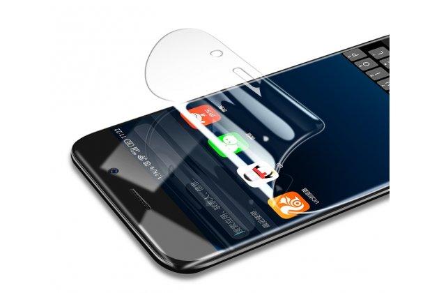 Фирменная оригинальная 3D защитная пленка с закругленными краями которое полностью закрывает экран для телефона Huawei P Smart 5.65 (FIG-LX1 /AL00) / Huawei Enjoy 7S глянцевая
