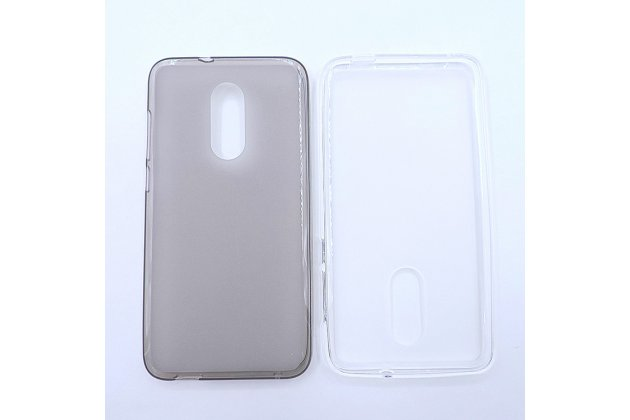 Фирменная ультра-тонкая полимерная из мягкого качественного силикона задняя панель-чехол-накладка для Alcatel A3 PLUS 3G 5011A серая