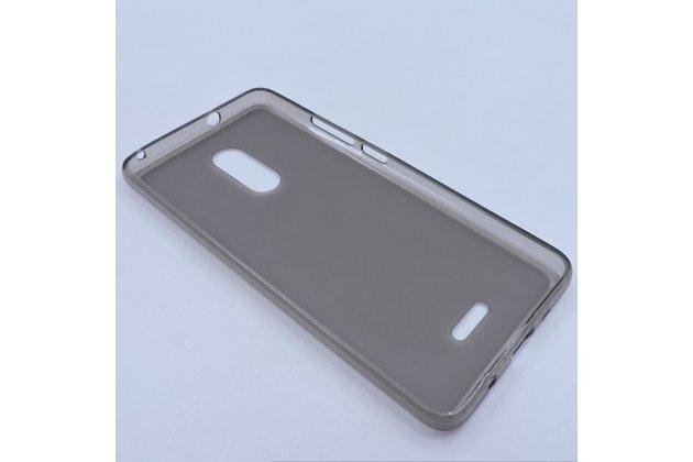 Фирменная ультра-тонкая полимерная из мягкого качественного силикона задняя панель-чехол-накладка для Alcatel 3C 5026D серая