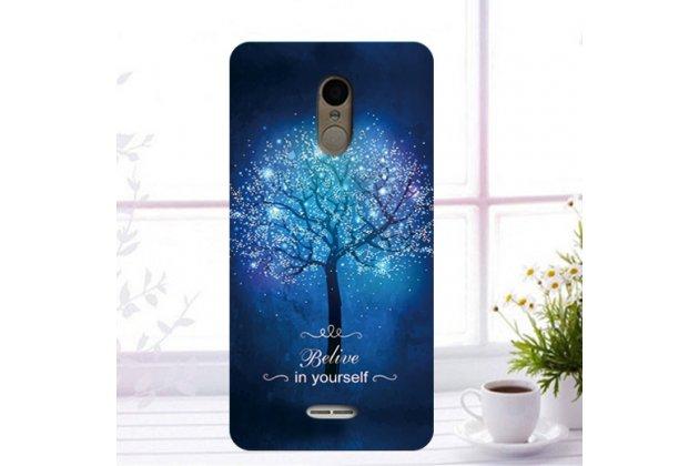 """Фирменная роскошная задняя панель-чехол-накладка  из мягкого силикона с безумно красивым расписным 3D рисунком на Alcatel 3C 5026D """"тематика Сказочное дерево"""""""