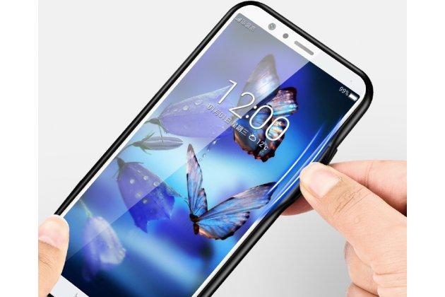 """Фирменный ультра-тонкий силиконовый чехол-бампер для Huawei Honor 7C/ Huawei Honor Play 7A High с закаленным стеклом на заднюю крышку телефона """"тематика Бабочки"""""""