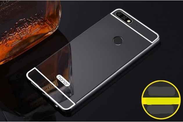 Фирменная металлическая задняя панель-крышка-накладка из тончайшего облегченного авиационного алюминия для Huawei Honor 7C/ Huawei Honor Play 7A High черная