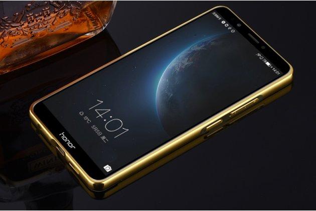 Фирменная металлическая задняя панель-крышка-накладка из тончайшего облегченного авиационного алюминия для Huawei Honor 7C/ Huawei Honor Play 7A High золотая