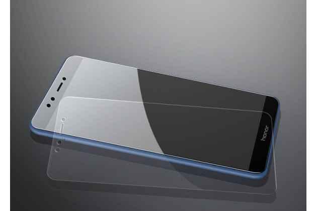 Фирменное защитное закалённое противоударное стекло для телефона Huawei Honor 7C/ Huawei Honor Play 7A High из качественного японского материала премиум-класса с олеофобным покрытием