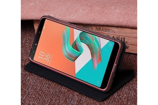 Фирменный роскошный эксклюзивный чехол с фактурной прошивкой из натуральной кожи коричневый для ASUS ZenFone 5 Lite ZC600KL 3/ 4. Только в нашем магазине. Количество ограничено