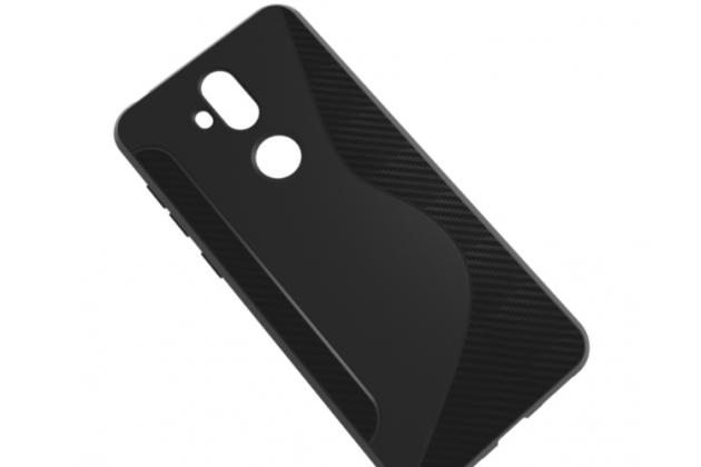 Фирменная ультра-тонкая полимерная из мягкого качественного силикона задняя панель-чехол-накладка для ASUS ZenFone 5 Lite ZC600KL 3/ 4 черная