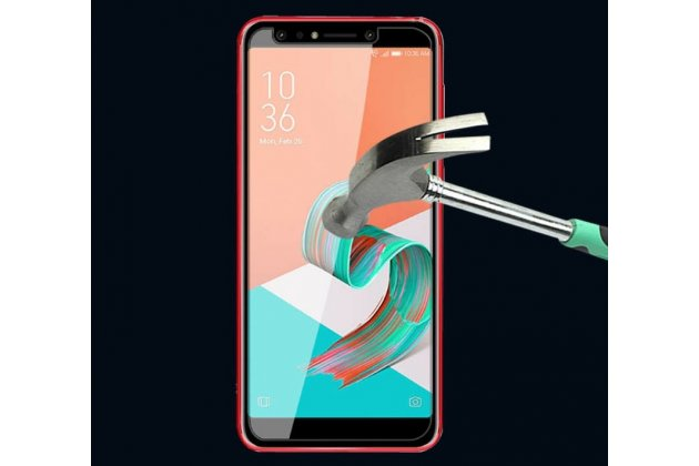 Фирменное защитное закалённое противоударное стекло для телефона ASUS ZenFone 5/ 5Z (ZE620KL/ZS620KL) из качественного японского материала премиум-класса с олеофобным покрытием