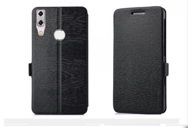 Фирменный чехол-книжка водоотталкивающий с мульти-подставкой для ASUS ZenFone 5/ 5Z (ZE620KL/ZS620KL) черный
