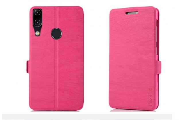 Фирменный чехол-книжка водоотталкивающий с мульти-подставкой для ASUS ZenFone Max M1 (ZB555KL) розовый