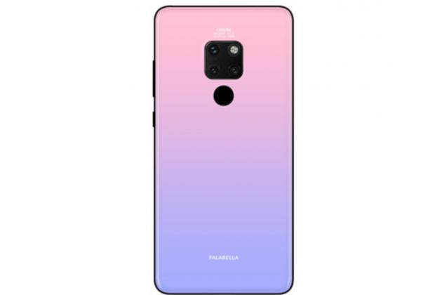 """Фирменный ультра-тонкий силиконовый чехол-бампер для Huawei Mate 20 6.53 с закаленным стеклом на заднюю крышку телефона """"тематика Градиент"""" светло-розовый"""