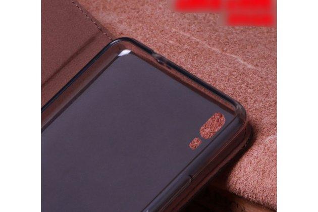 Фирменный роскошный эксклюзивный чехол с фактурной прошивкой рельефа кожи крокодила коричневый для Huawei P20 5.8 (EML-AL00). Только в нашем магазине. Количество ограничено