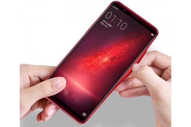 Фирменный ультра-тонкий силиконовый чехол-бампер для Huawei P20 5.8 (EML-AL00) с закаленным стеклом на заднюю крышку телефона красный