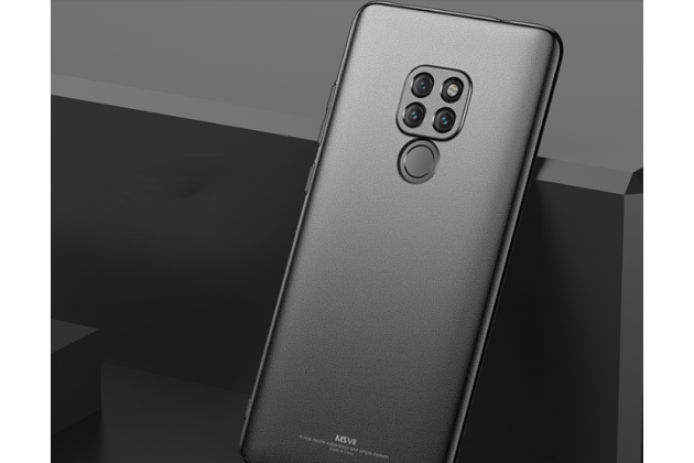 Задняя панель-крышка из прочного пластика с матовым противоскользящим покрытием для Huawei Mate 20 Pro / Mate 20 RS 6.39  в черном цвете