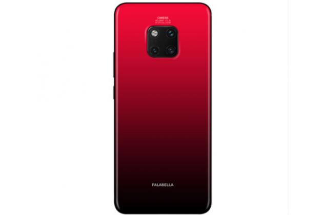 """Фирменный ультра-тонкий силиконовый чехол-бампер для Huawei Mate 20 Pro / Mate 20 RS 6.39 с закаленным стеклом на заднюю крышку телефона """"тематика Градиент"""" красный"""