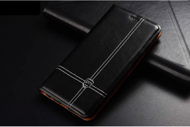 Фирменный элитный чехол-книжка из качественной импортной кожи с мульти-подставкой и визитницей для Huawei P20 5.8 (EML-AL00) черный
