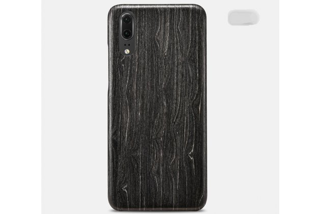 Фирменная оригинальная деревянная из натурального бамбука задняя панель-крышка-накладка для Huawei P20 5.8 (EML-AL00) черная