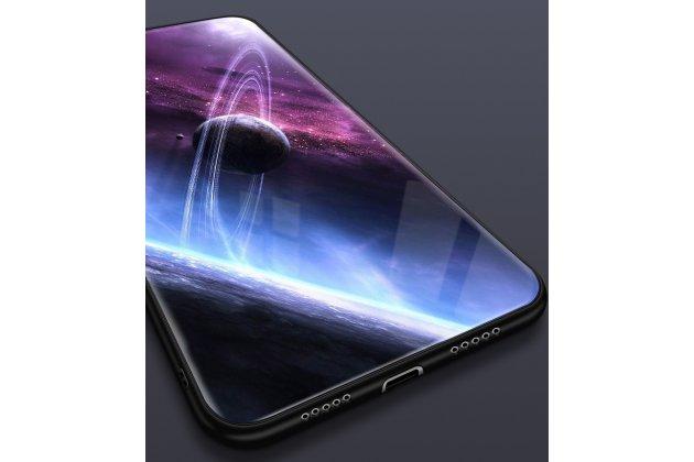 """Фирменный ультра-тонкий силиконовый чехол-бампер для Huawei P20 Pro / Huawei P20 Plus  с закаленным стеклом на заднюю крышку телефона """"тематика Космос"""""""
