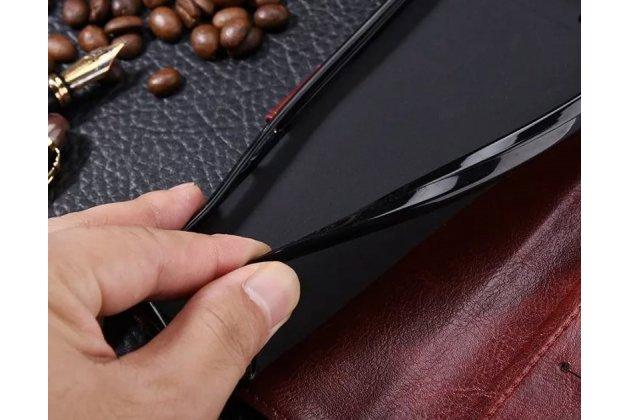 Фирменный чехол-книжка из качественной импортной кожи с подставкой застёжкой и визитницей для Huawei P20 Pro / Huawei P20 Plus розовый