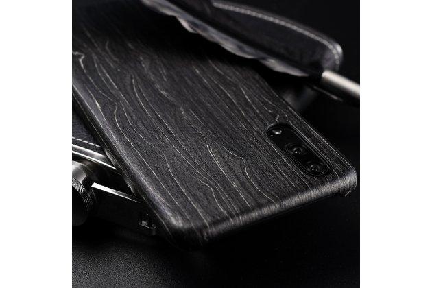 Фирменная оригинальная деревянная из натурального бамбука задняя панель-крышка-накладка для Huawei P20 Pro / Huawei P20 Plus  черная