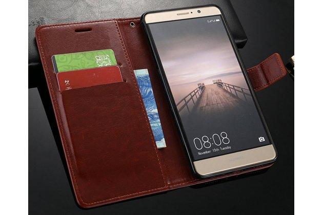 Фирменный чехол-книжка из качественной импортной кожи с подставкой застёжкой и визитницей для Huawei P20 Pro / Huawei P20 Plus черный