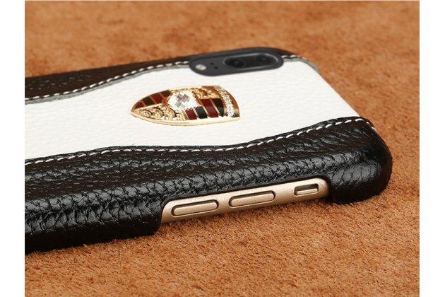 Фирменная роскошная задняя панель-крышка обтянутая импортной кожей для Huawei P20 Pro / Huawei P20 Plus  черно-белая