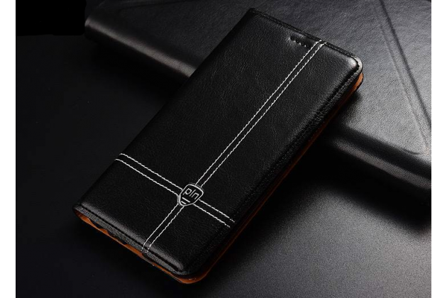 Фирменный премиальный чехол-книжка из качественной импортной кожи с мульти-подставкой и визитницей для Huawei P20 Pro / Huawei P20 Plus черный