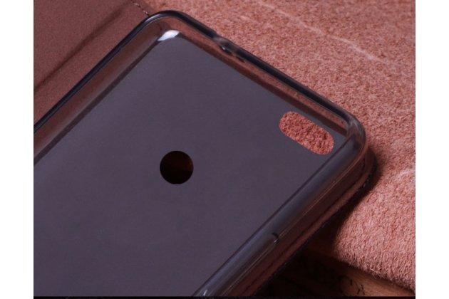 Фирменный роскошный эксклюзивный чехол с фактурной прошивкой рельефа кожи крокодила черный для Lenovo S5 / Lenovo K520. Только в нашем магазине. Количество ограничено