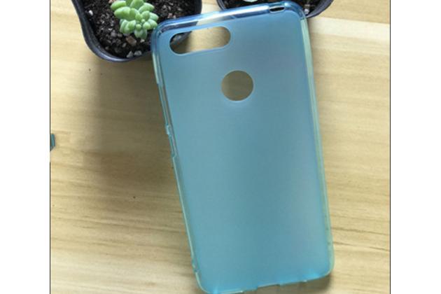 Фирменная ультра-тонкая полимерная из мягкого качественного силикона задняя панель-чехол-накладка для Lenovo S5 / Lenovo K520 голубая