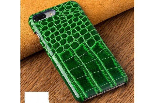 Фирменная элегантная задняя панель-крышка с фактурной отделкой натуральной кожи крокодила для Huawei P20 Lite / Nova 3e зеленая. Только в нашем магазине. Количество ограничено.