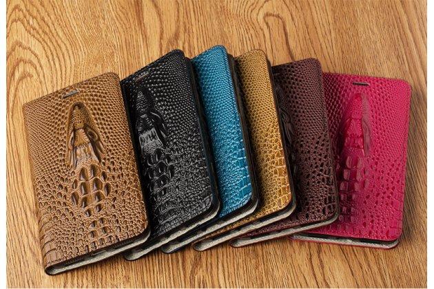 Фирменный роскошный эксклюзивный чехол с объёмным 3D изображением кожи крокодила коричневый для Huawei P20 Lite / Nova 3e . Только в нашем магазине. Количество ограничено