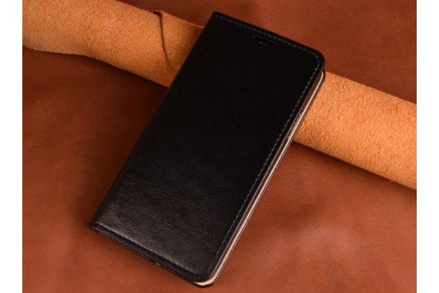 Фирменный премиальный элитный чехол-книжка из качественной импортной кожи с мульти-подставкой и визитницей для Huawei P20 Lite / Nova 3e черный