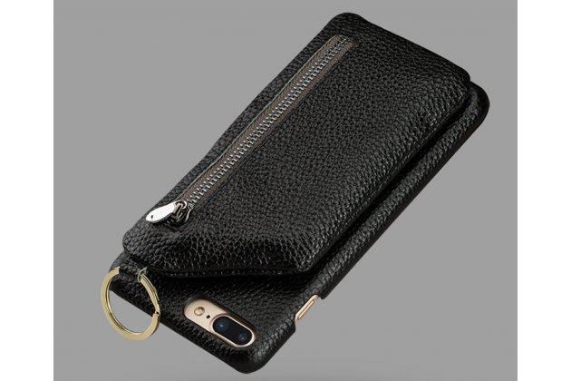 Фирменная премиальная элитная крышка-накладка-клатч из тончайшего прочного пластика и качественной импортной кожи для Huawei P20 Lite / Nova 3e с отделением для различных мелочей черная