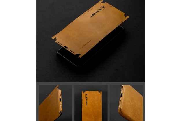 Оригинальная эксклюзивная задняя кожаная наклейка (из натуральной кожи) для Huawei P20 Lite / Nova 3e красная