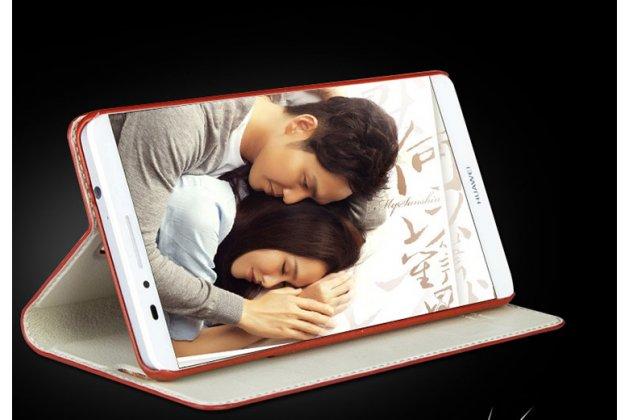 Фирменный премиальный чехол-книжка из качественной импортной кожи с мульти-подставкой и визитницей для Huawei P20 Lite / Nova 3e черно-коричневый