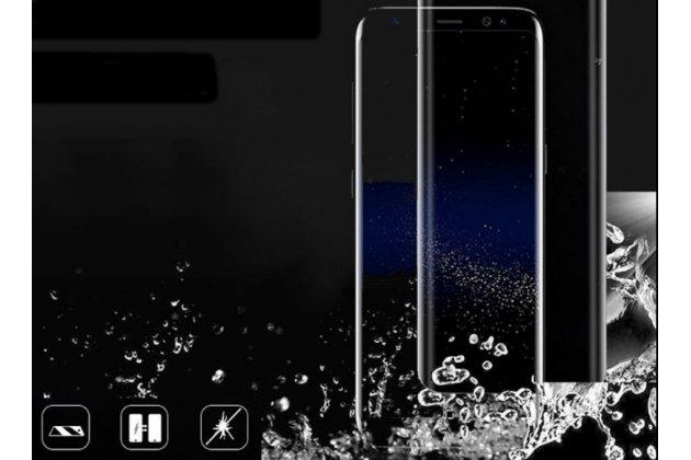 Фирменная оригинальная 3D защитная пленка с закругленными краями которое полностью закрывает экран для телефона HTC Desire 12  Plus глянцевая