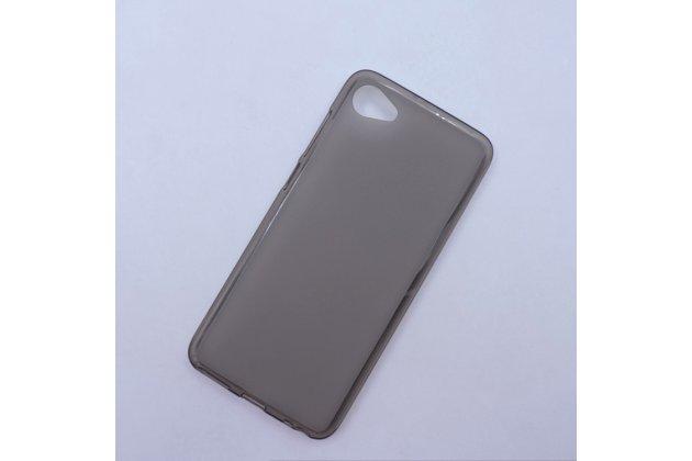 Фирменная ультра-тонкая полимерная из мягкого качественного силикона задняя панель-чехол-накладка для HTC Desire 12  Plus серая