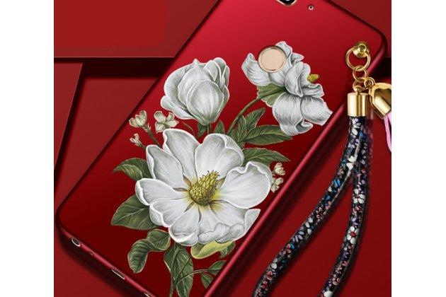 Фирменная уникальная задняя панель-крышка-накладка из тончайшего силикона для Huawei Honor 7A Pro/ Huawei Enjoy 8E/ Huawei Y6 2018/ Huawei Y6 Prime 2018  с объёмным 3D рисунком тематика Цветок Жасмин