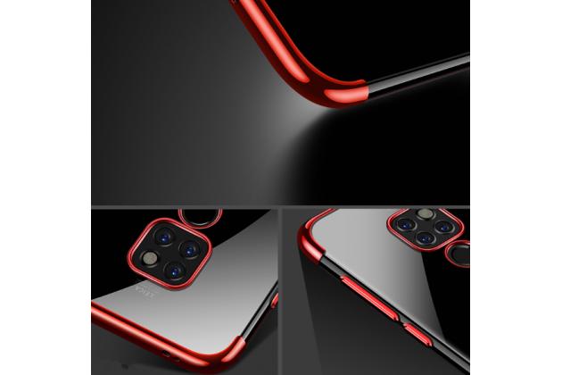 Фирменная задняя панель-чехол-накладка с защитными заглушками с защитой боковых кнопок для Huawei Mate 20 Pro / Mate 20 RS 6.39 прозрачная синяя
