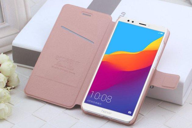 Фирменный чехол-книжка водоотталкивающий с мульти-подставкой для Huawei Honor 7A / Huawei Honor Play 7 Standart/ Y5 Prime 2018 розовое золото
