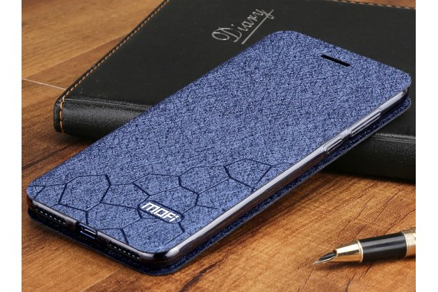 Фирменный чехол-книжка водоотталкивающий с мульти-подставкой на жёсткой металлической основе для Huawei Honor 7A / Huawei Honor Play 7 Standart/ Y5 Prime 2018 синий
